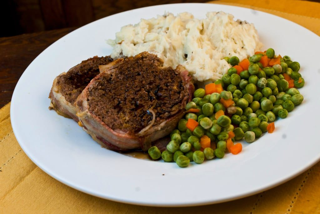 Bacon Cheddar Meatloaf with Guinness Sauce