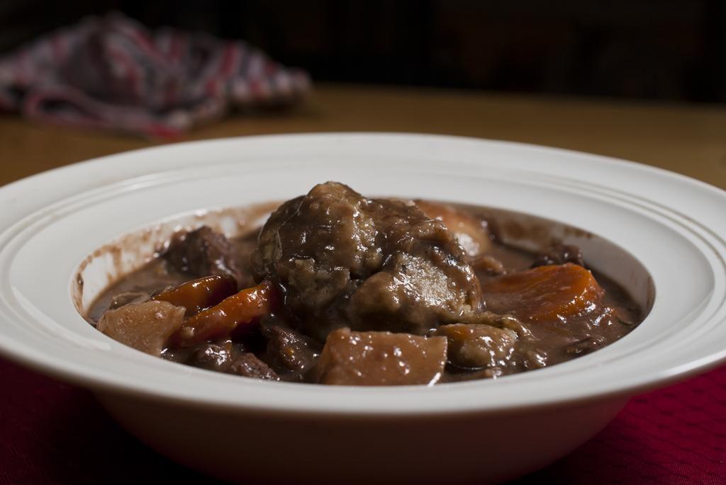 Beef Stew with Thyme dumplings