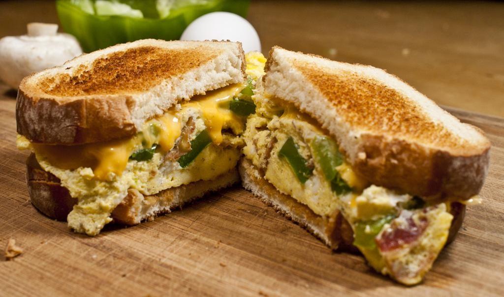 Microwave Omelette Sandwich