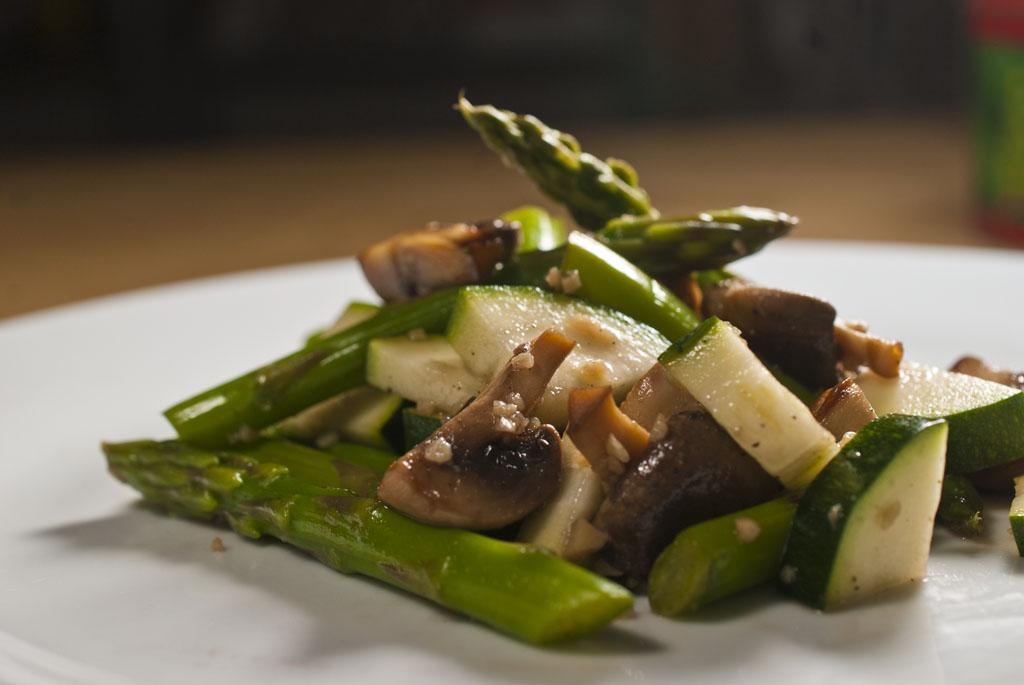 Mushroom and Asparagus Salad