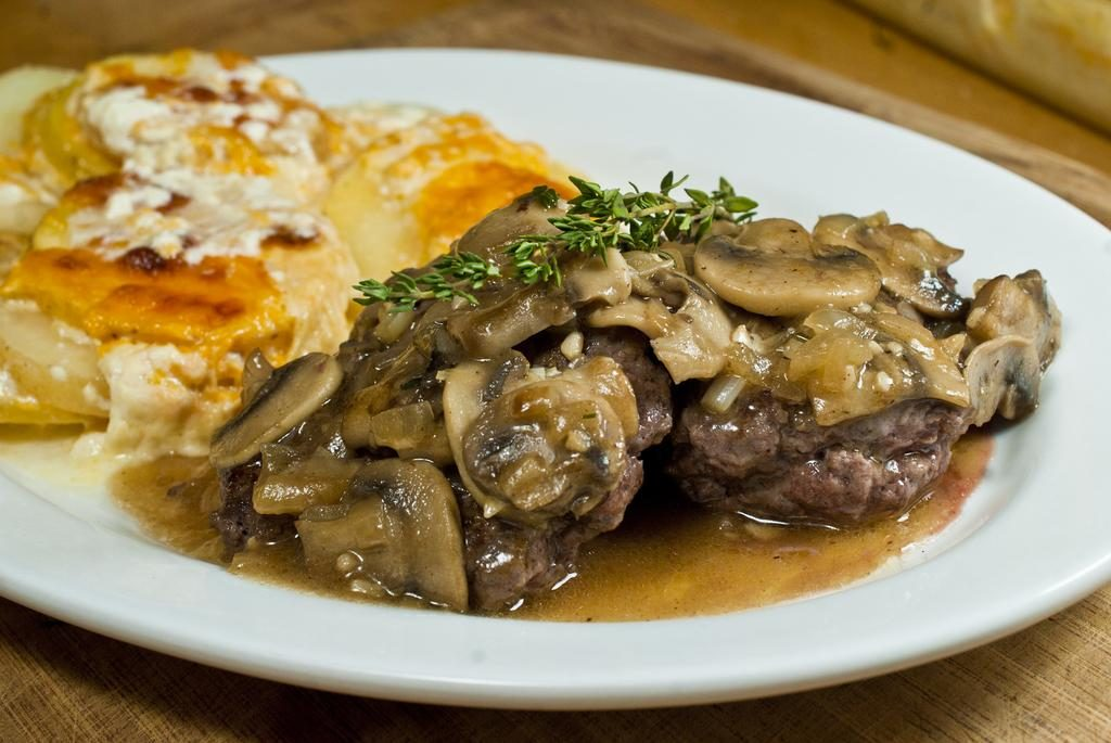 Salisbury Steak and Scalloped Potatoes