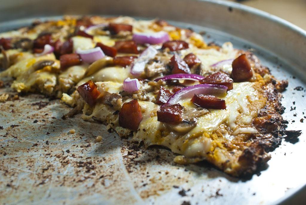 Slow Carb Pizza (no wheat, no lactose, no tomatoes)