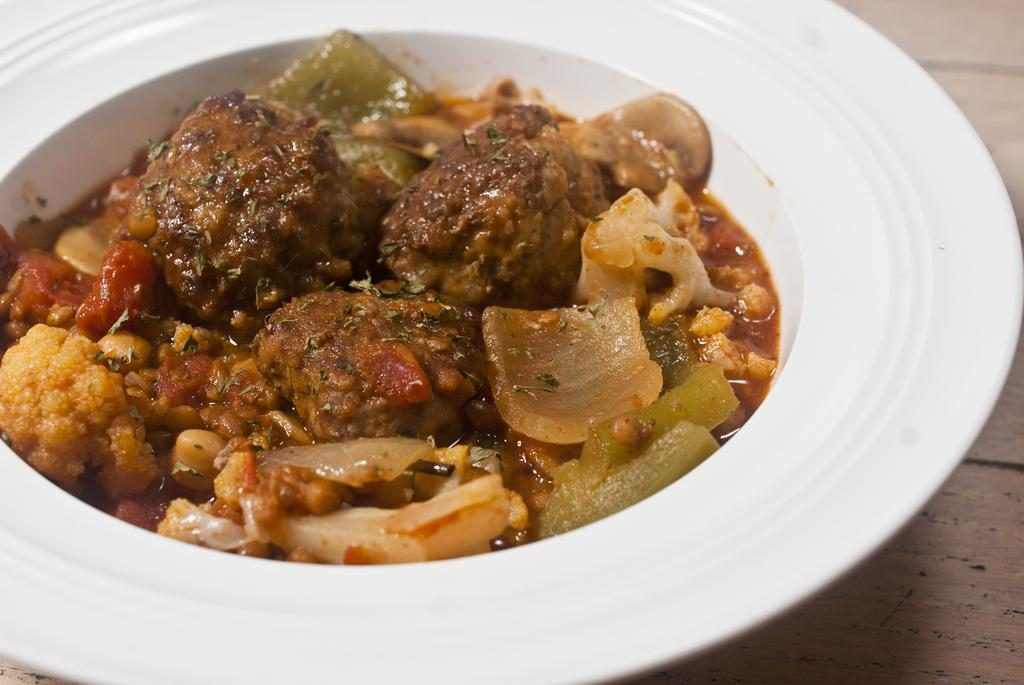 Hearty Meatball Stew: Sissy Diet Edition