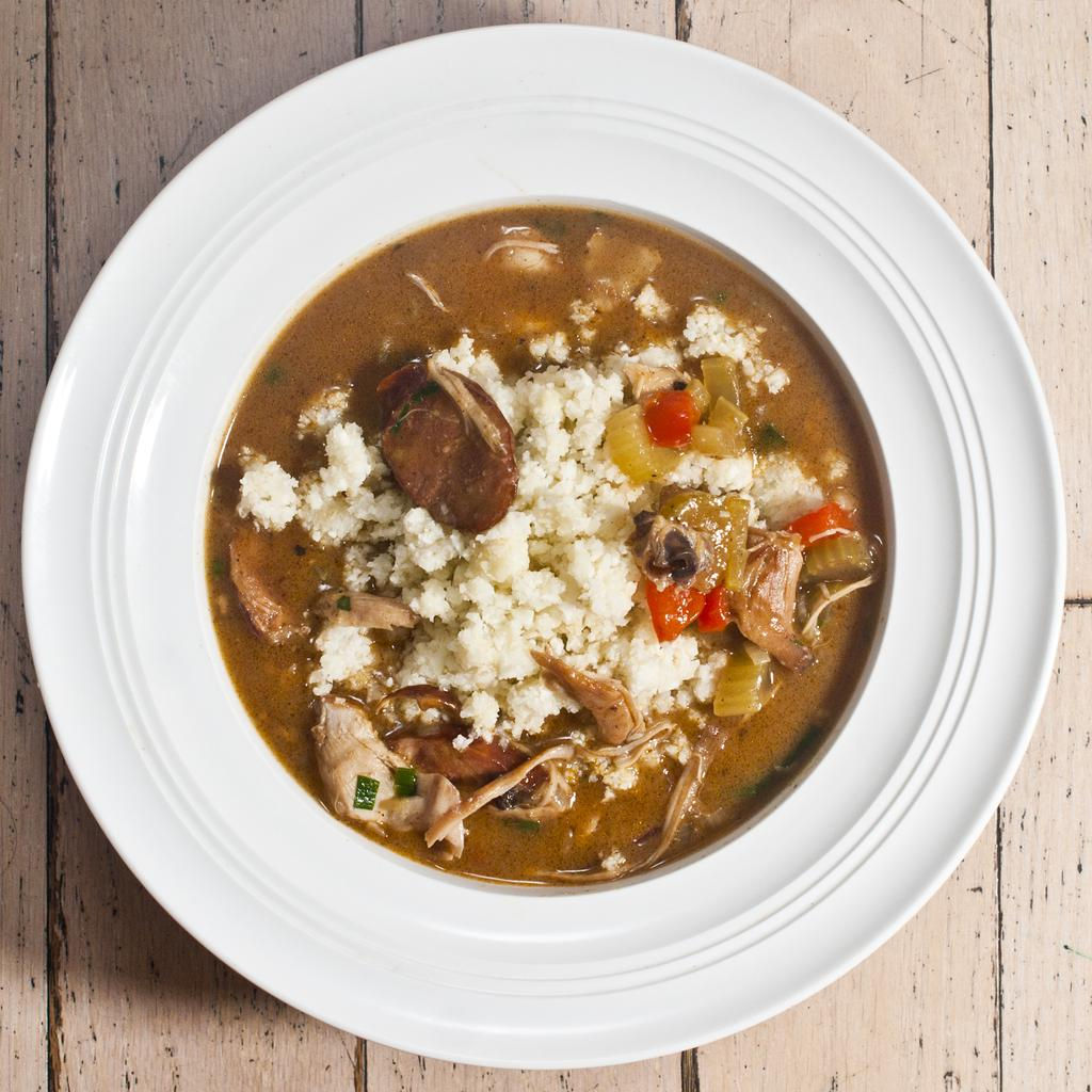 Slow Carb Chicken and Chorizo Gumbo