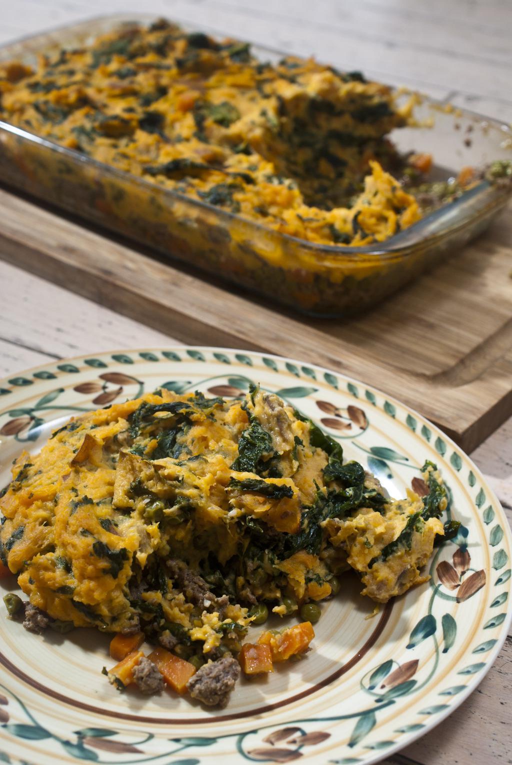 Sweet Potato and Sautéed Kale Shepherd's Pie