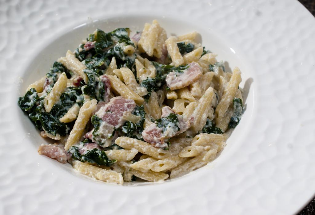 Bacon And Kale Penne