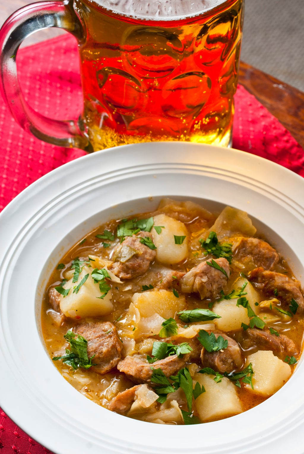 Beer and Bratwurst Stew