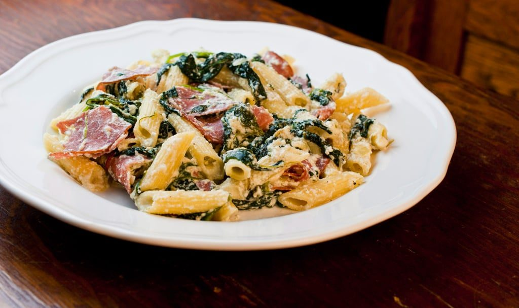 Spinach & Salami Penne