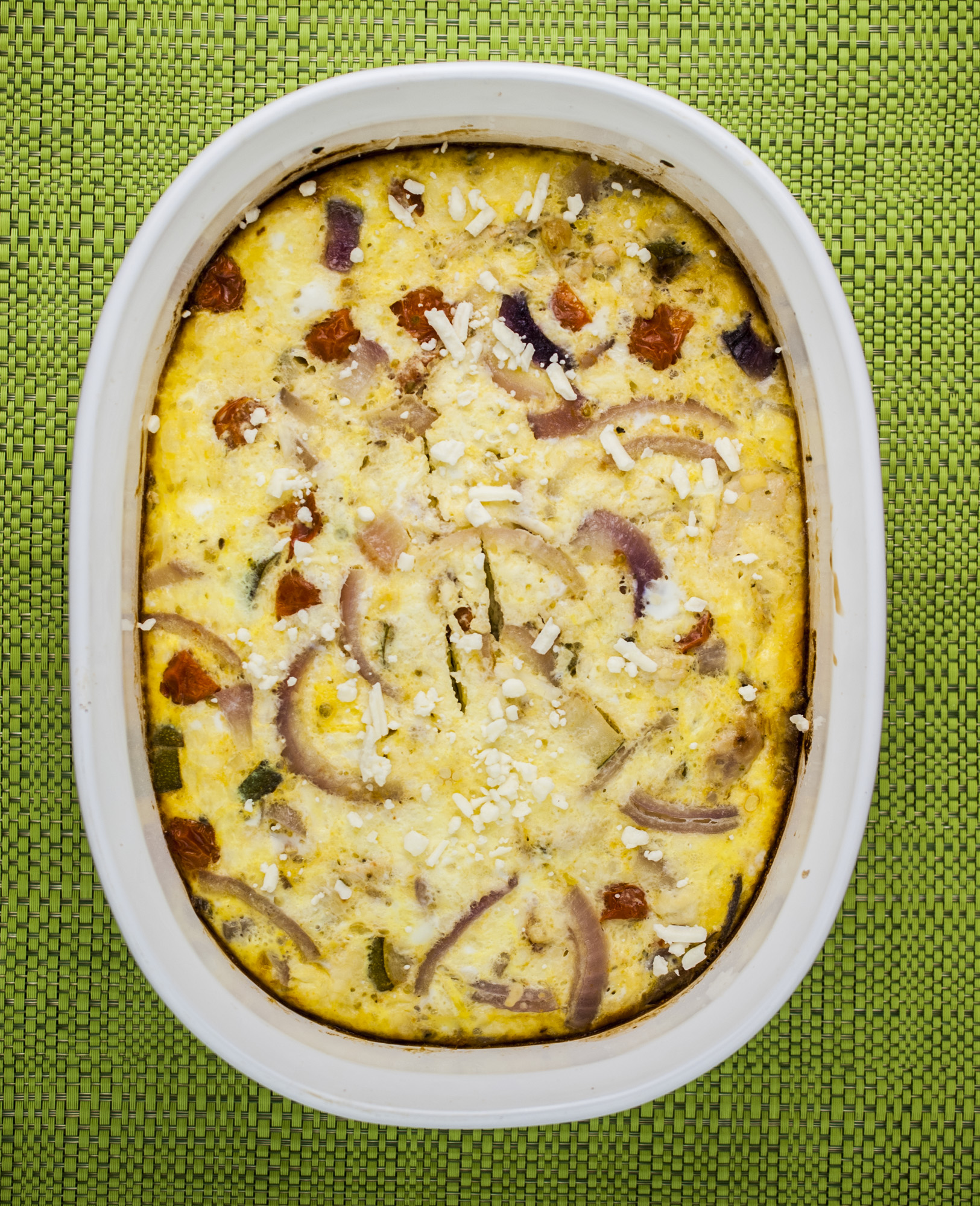 Greek Chicken Frittata