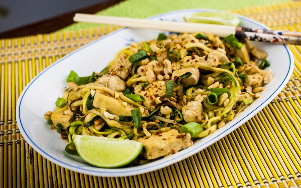 Pad Thai on Zucchini Noodles