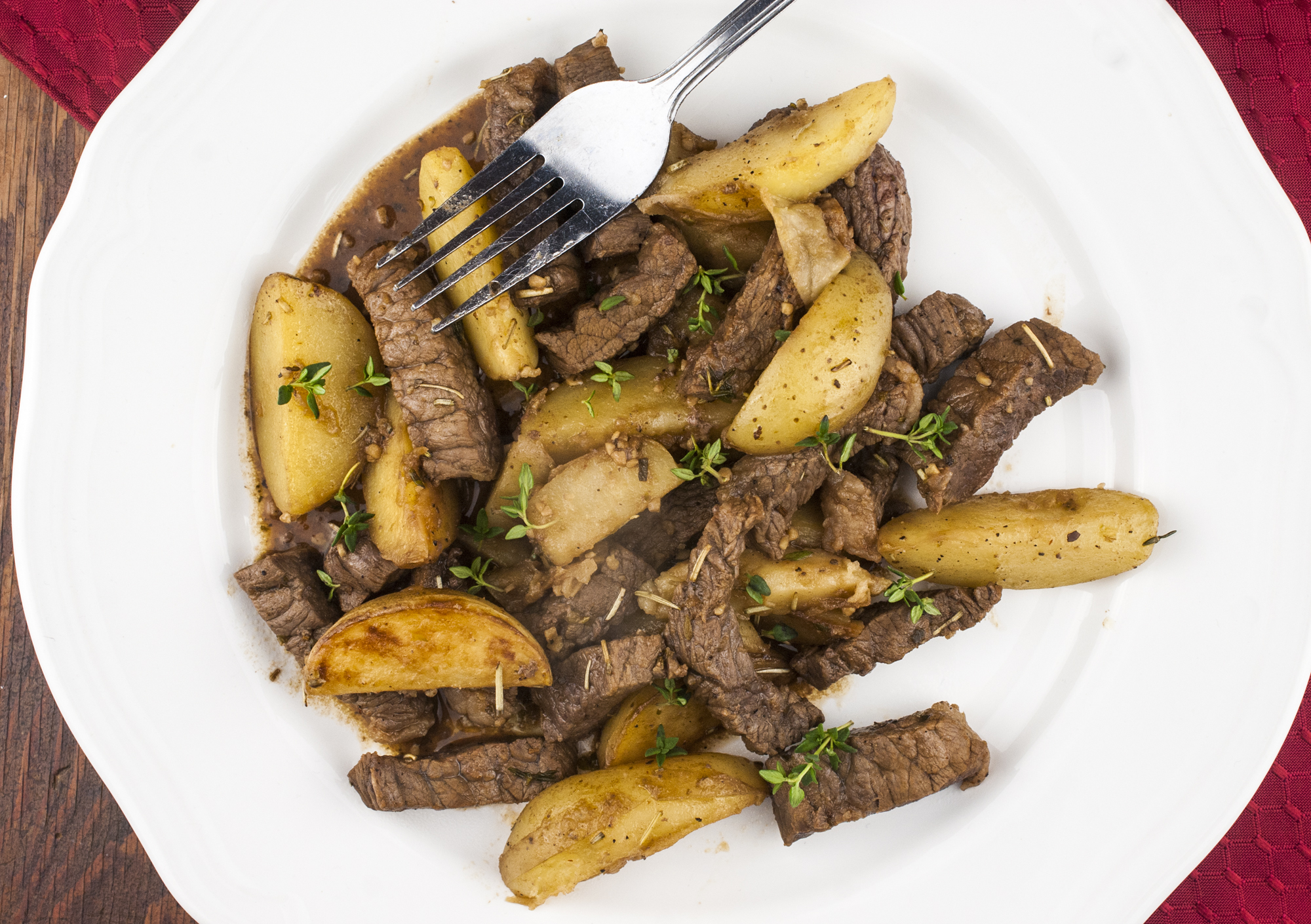 One* Pot Steak And Potatoes