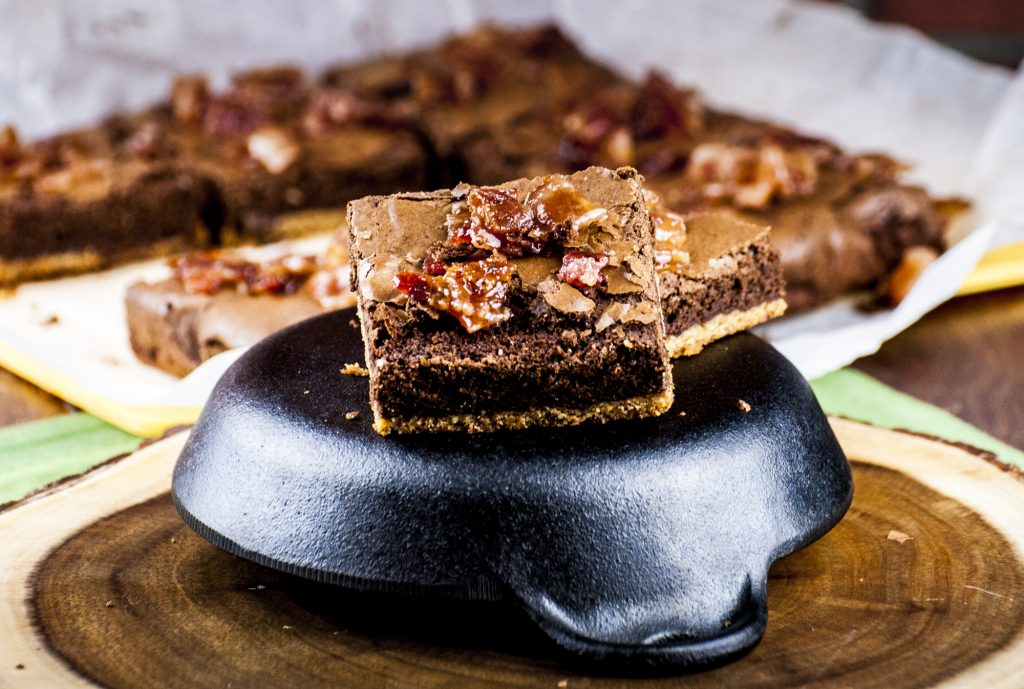 Maple Candied Bacon Pot Brownies