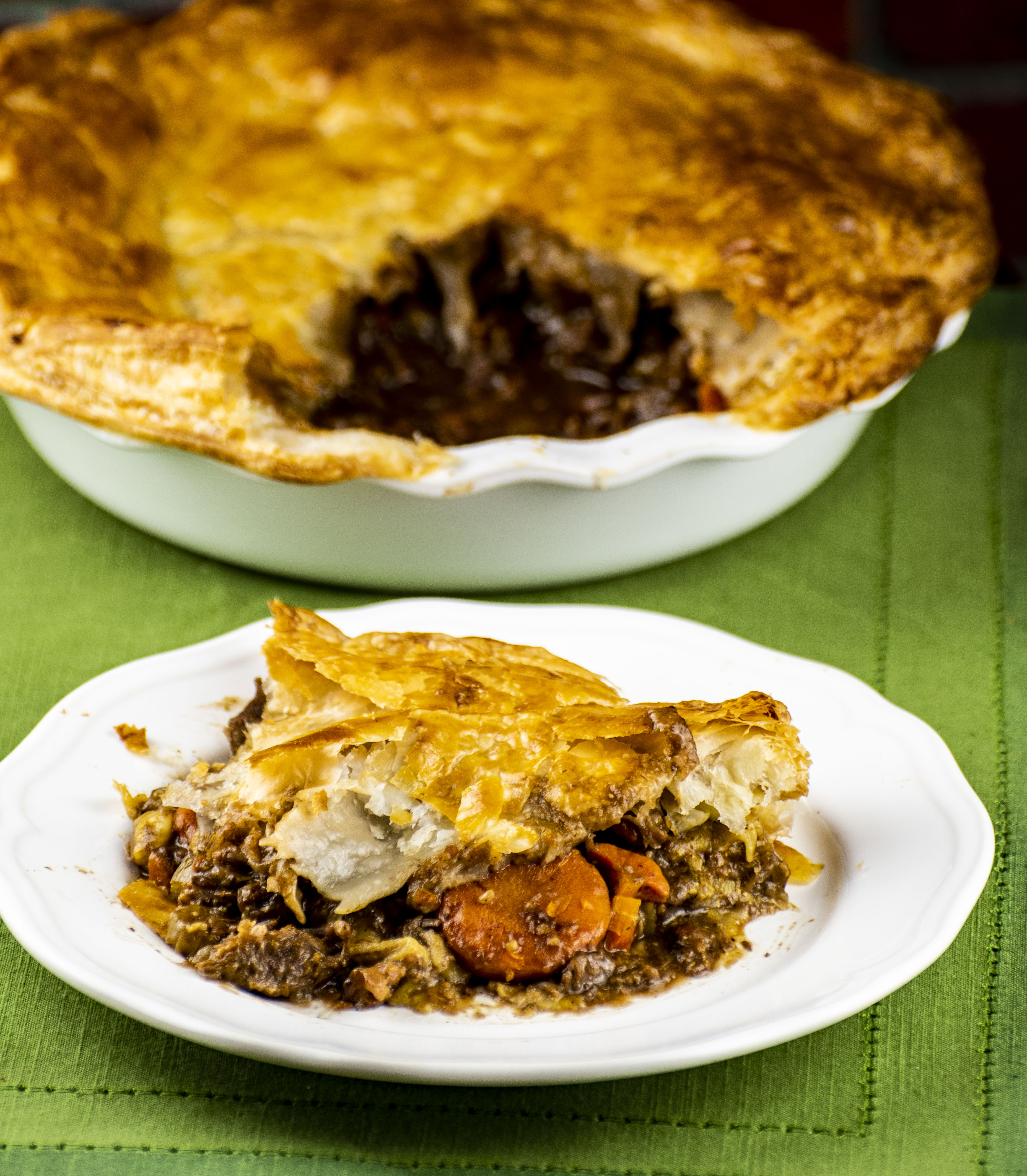 Beef, Bacon, and Guinness Pie
