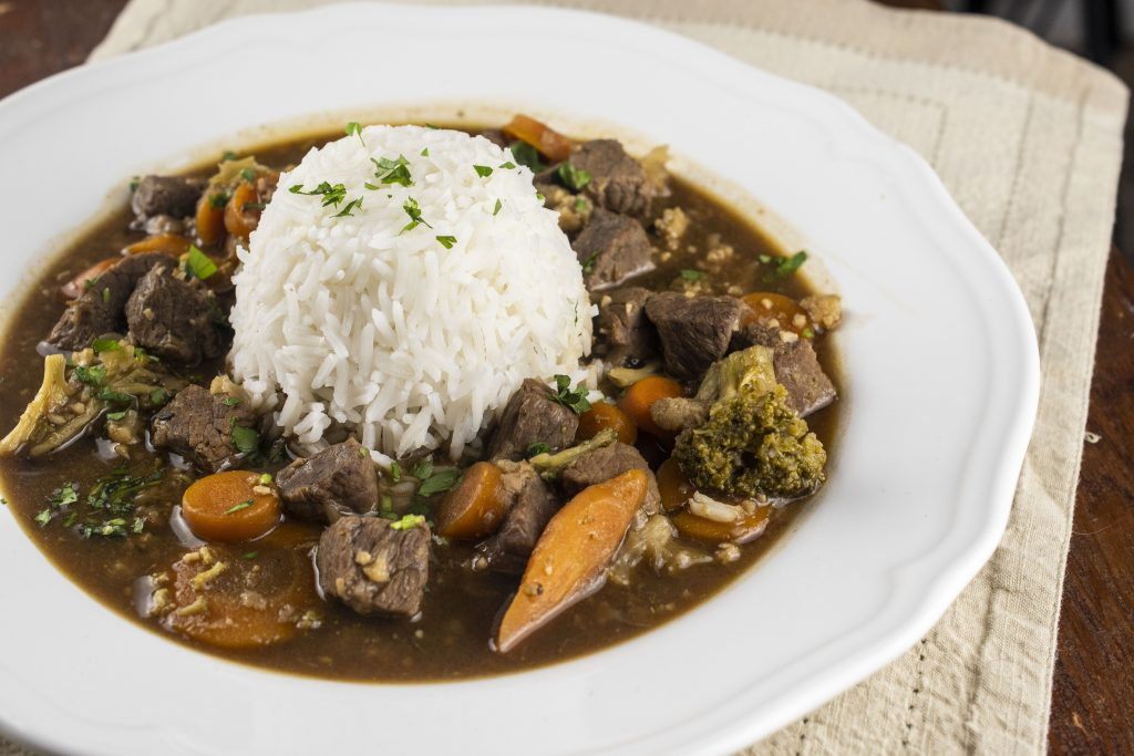 Easy Beef and Guinness Stew with Rice