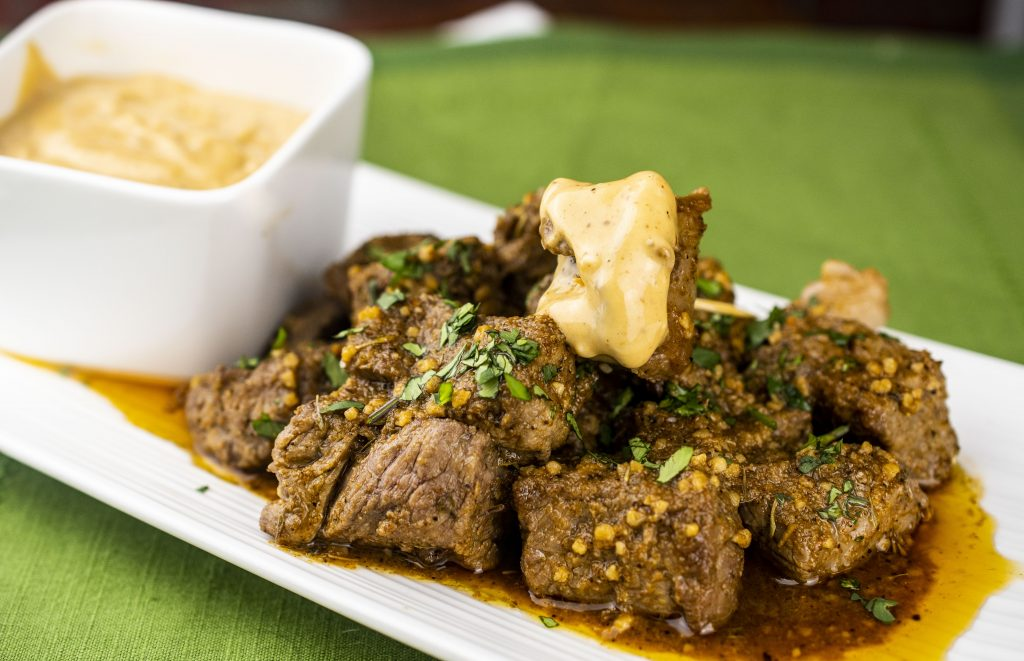 Cajun garlic cannabutter steak bites with chipotle aioli