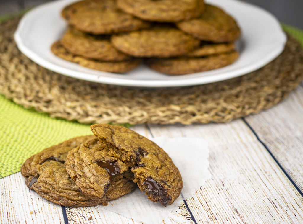 Brown Cannabutter Chocolate Chip Cookies