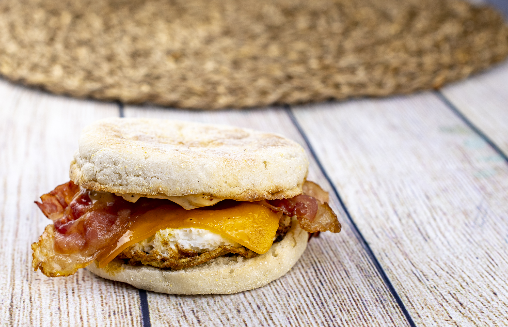 Easy Weekday Bacon and Egg English Muffin