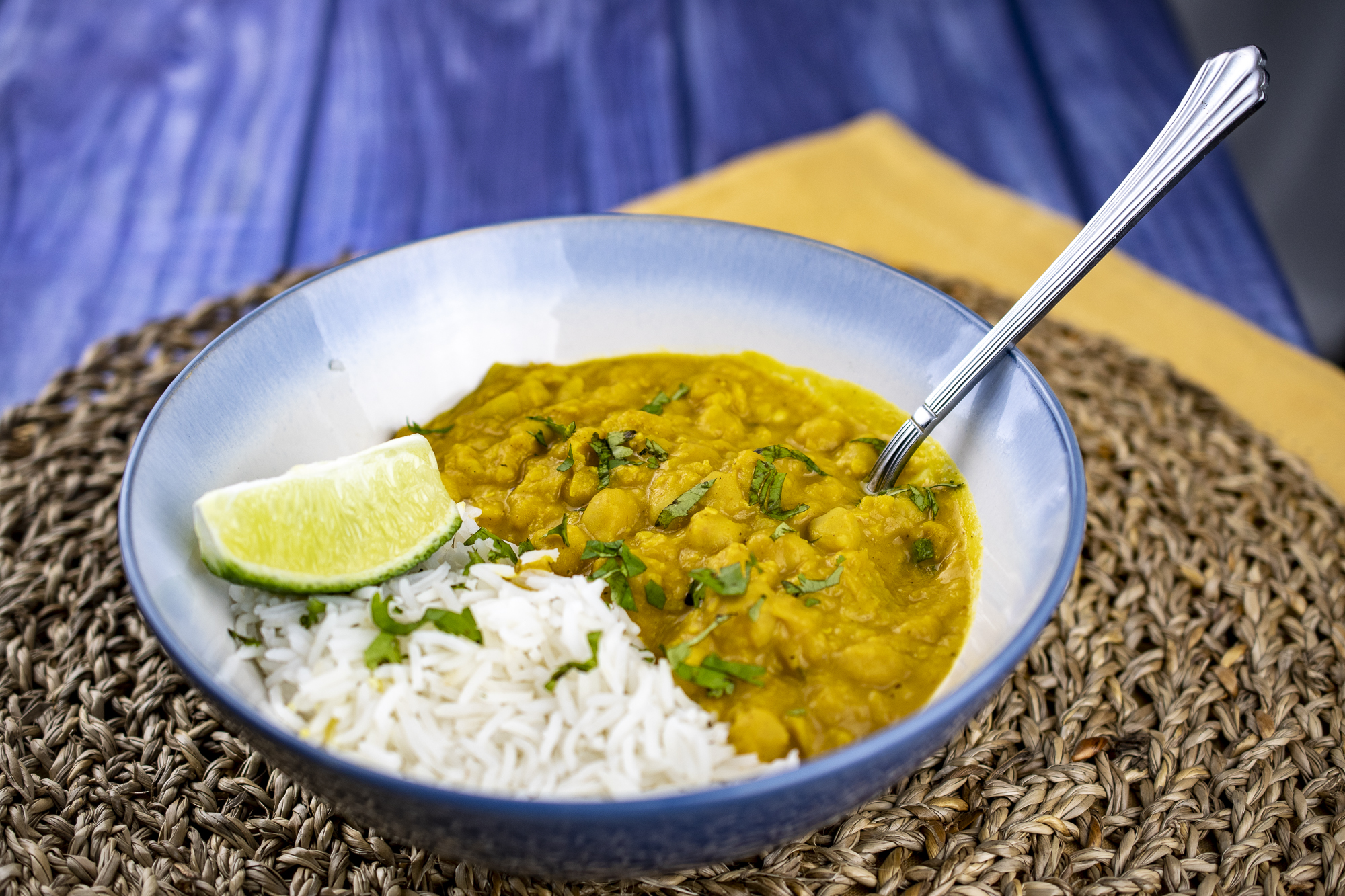 Slow Cooker Chickpea, Lentil and Pumpkin Curry
