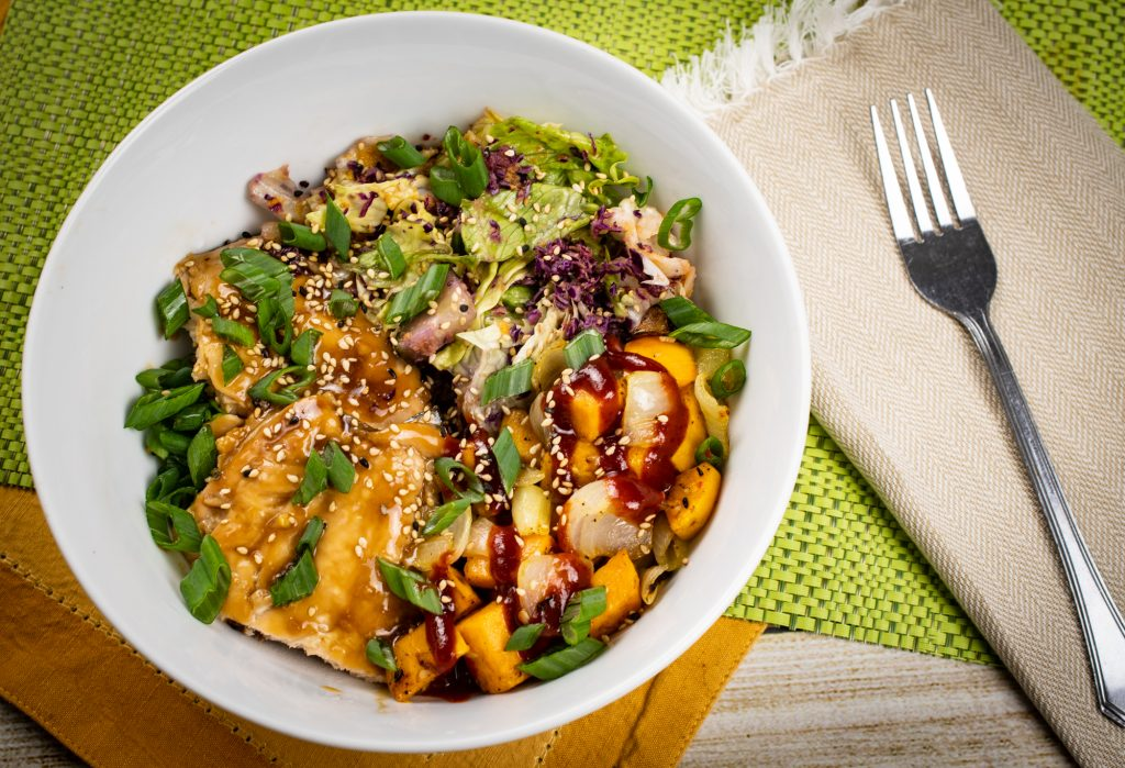 Teriyaki Glazed Salmon Bowl