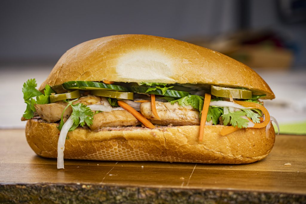 BBQ Chicken Banh Mi Sandwich